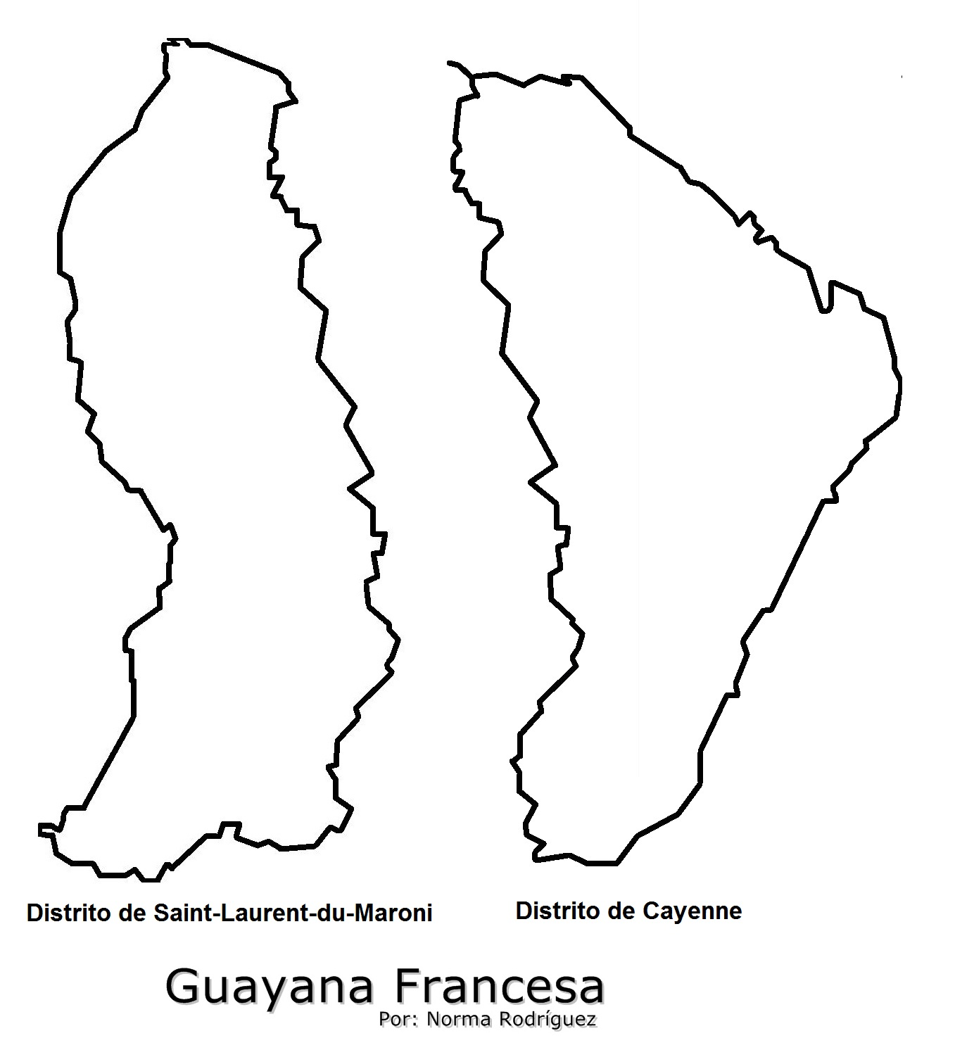 GUAYANA FRANCESA | MAPAS DE
