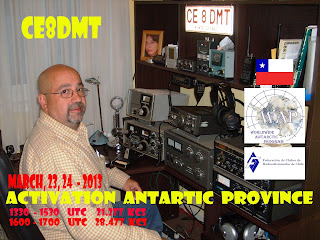 Chile: ANTARTIC PROVINCE  CE8   23, 24 DE MARZO 2013 - WORKED ANTARTIC CALLSIGN AWARD