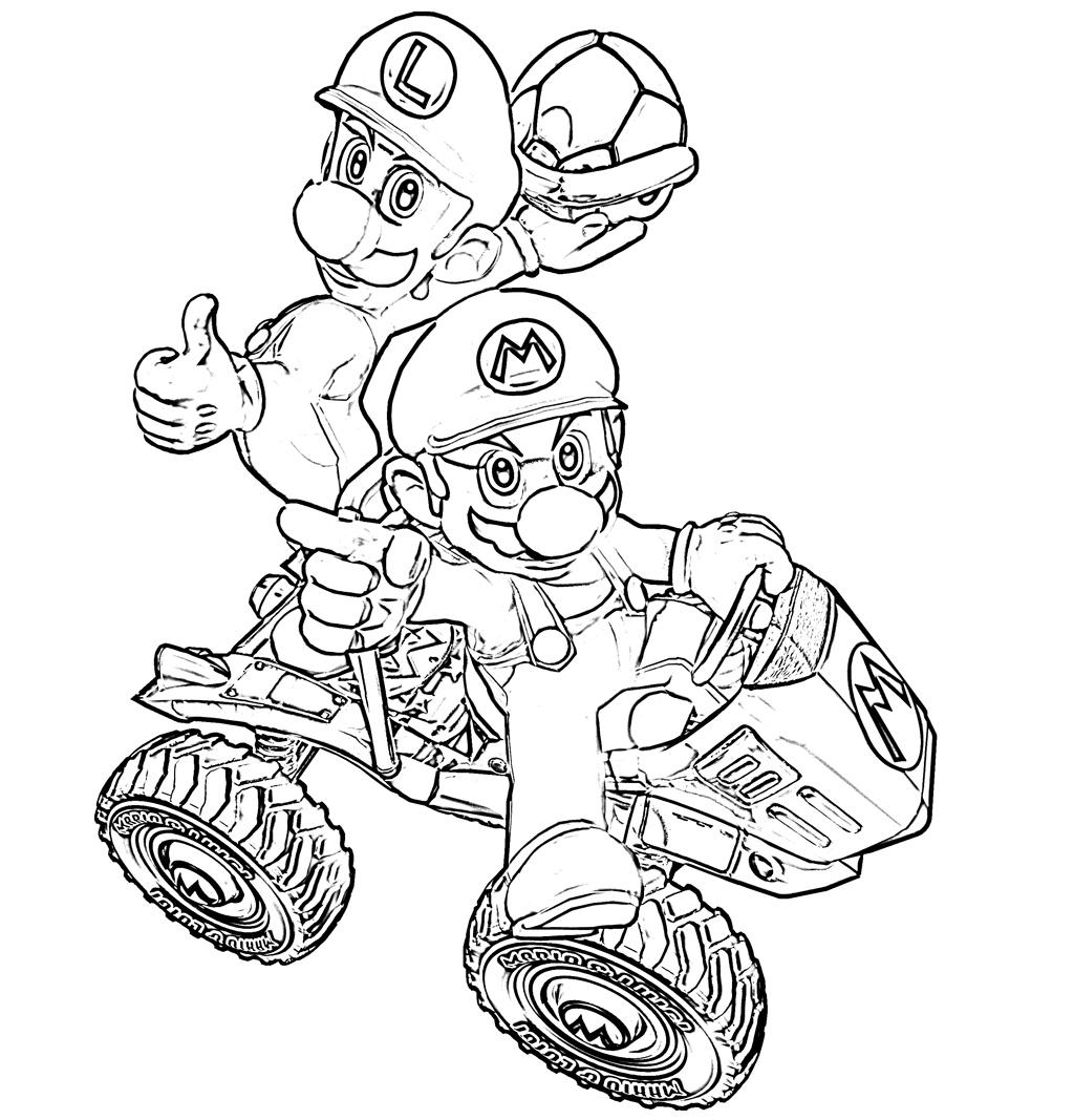 Dibujos para todo: Dibujos de Super Mario y amigos