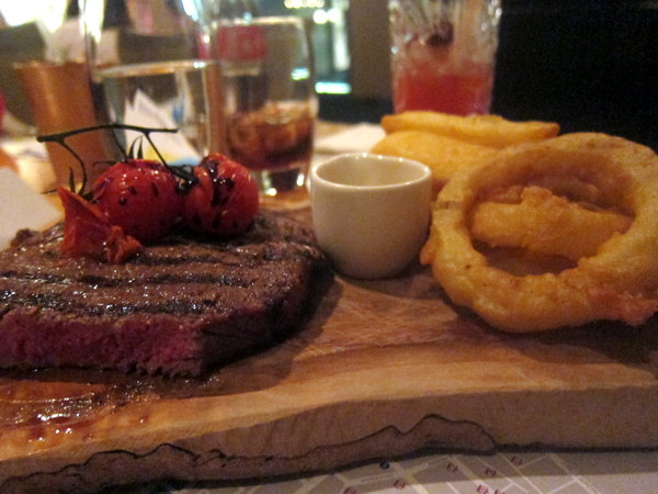 Sirloin steak at The Exchange Restaurant Dublin