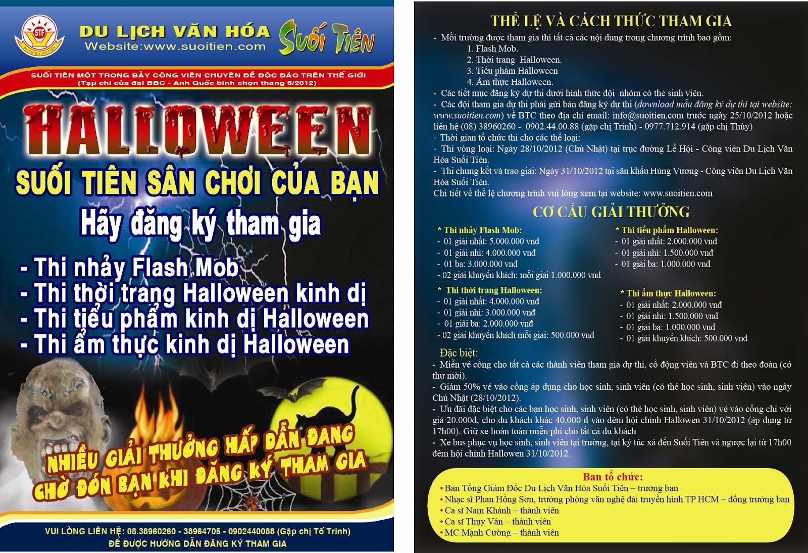 Lễ hội Halloween 2012 - Suối tiên