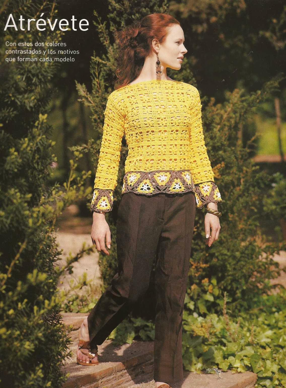 #10 Jersey o Blusa con Triángulos a Crochet
