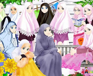 Anime Islami Persahabatan Foto Kartun Muslimah Dian Alm Ii