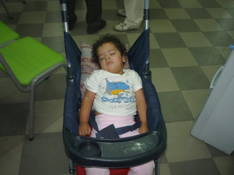 """Cami, nuestra """"pequeña militante"""" se durmió esperando a..."""