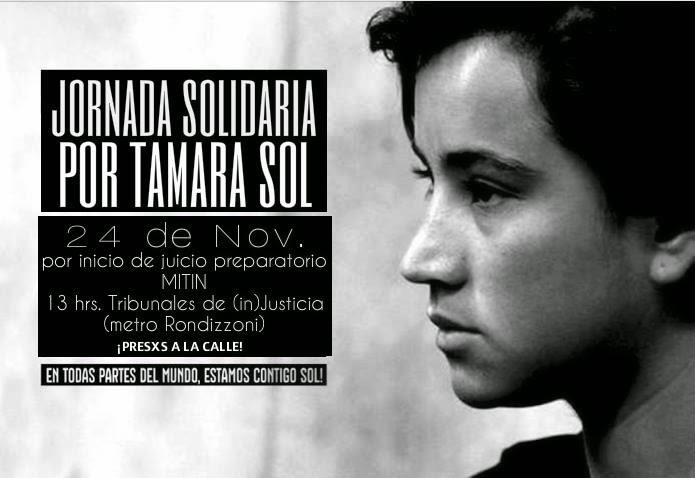 SANTIAGO CENTRO: TRIBUNALES RONDIZZONI, JORNADA SOLIDARIA POR TAMARA SOL