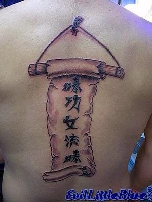 Japanese Scroll Tattoo Designs