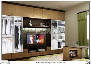 Lemari tipe minimalis tv elegan Woody