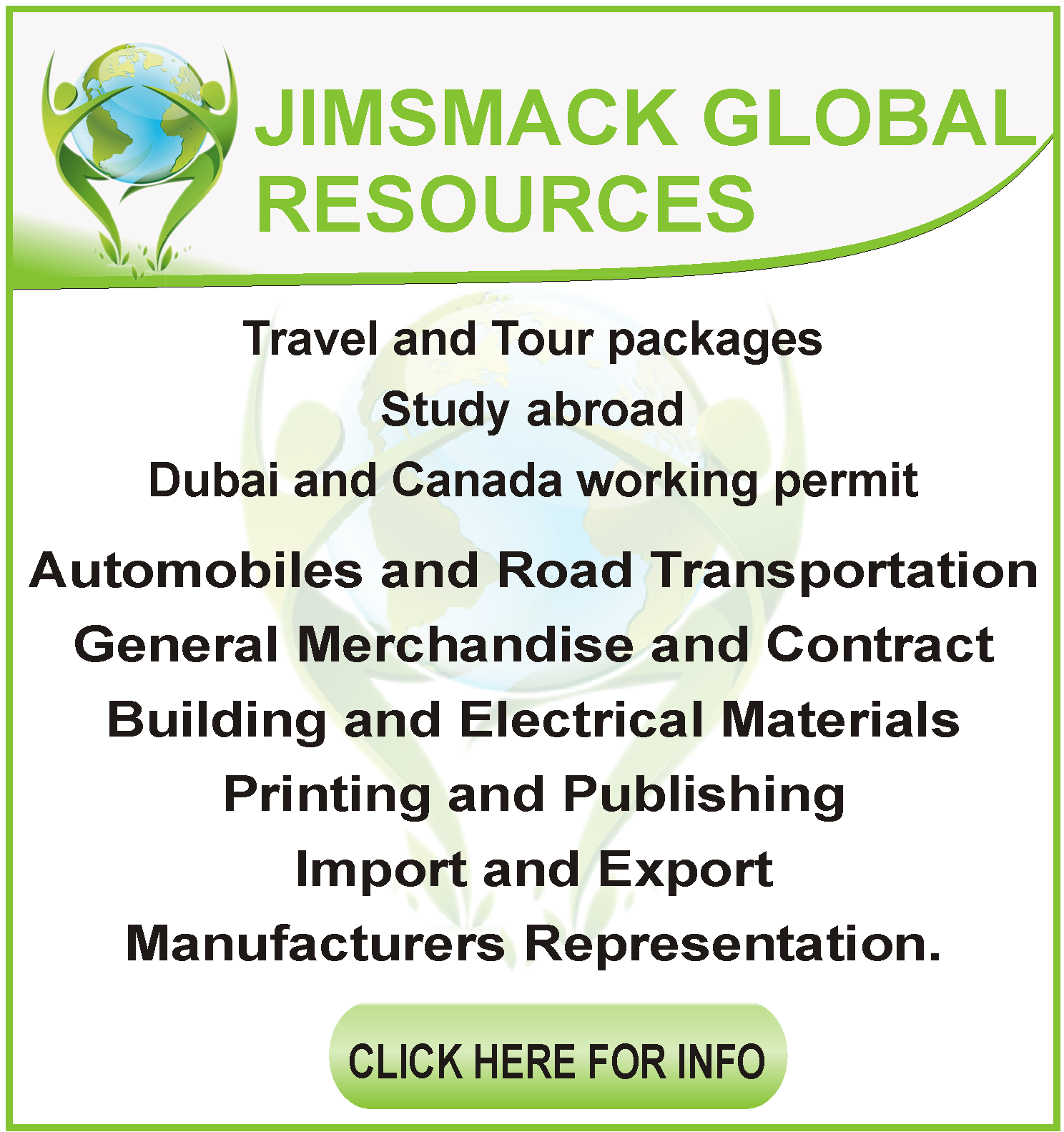 JIMSMACK GLOBAL RESOURCES