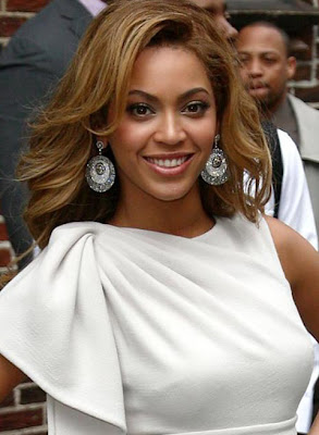 Beyonce Knowles Gemstone Chandelier Earrings
