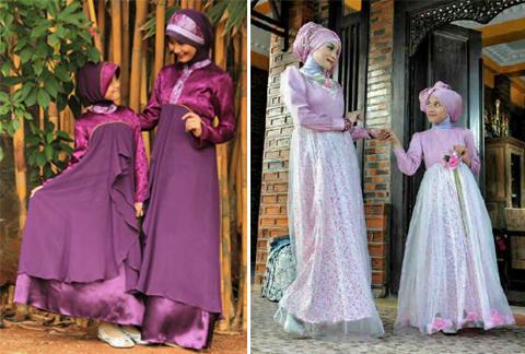 gamis pesta ibu dan anak