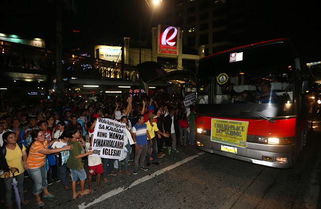 INC protesters along EDSA Ortigas