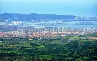 Pico Fario, vista de Gijón