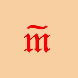 Signo medieval para representar la resta.