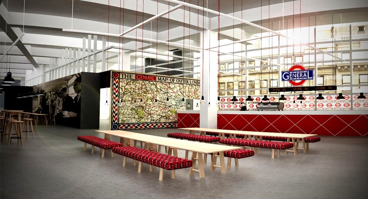 The Transport For London Pop Up Restaurant At Design Junction Nr Holborn