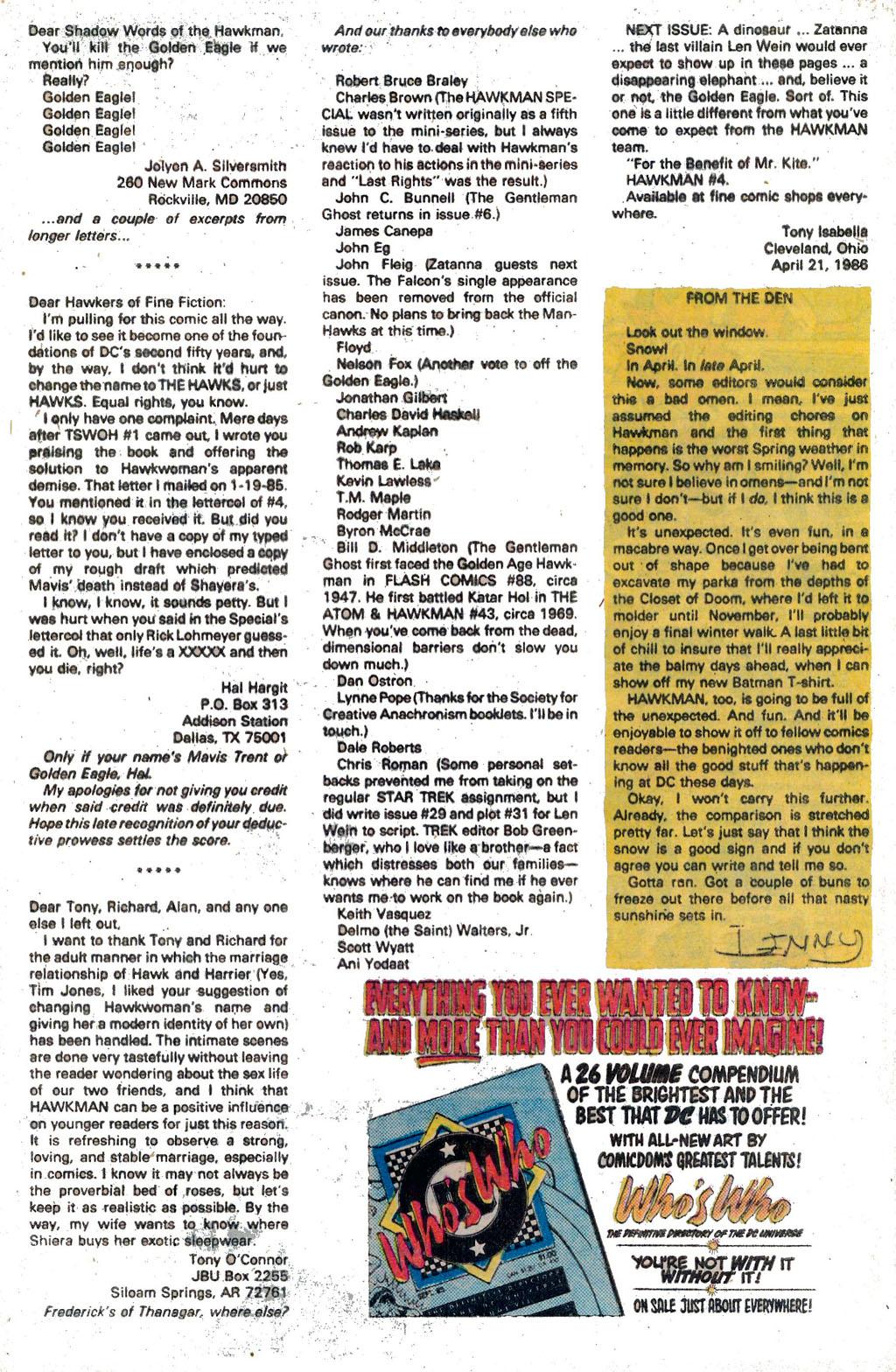 Hawkman (1986) Issue #3 #3 - English 27