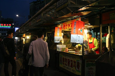 Food street stall at Dongdaemun Seoul