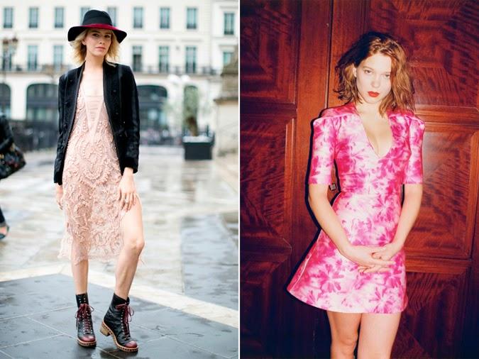 Elena Perminova Lea Seydoux inspiración rosa
