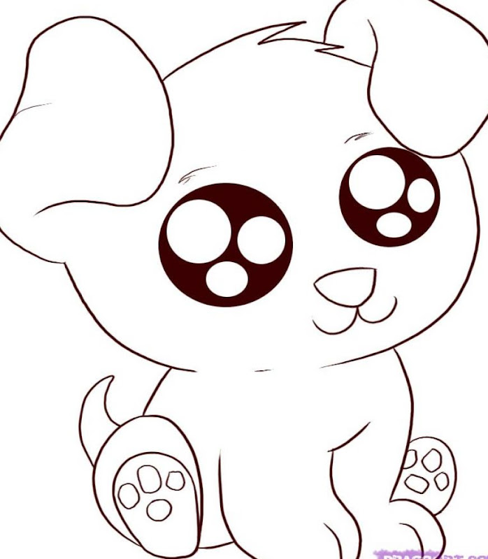 Cute Cartoon Animal Coloring Pages title=