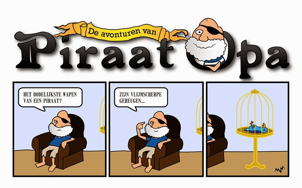 new cartoon Piraat Opa