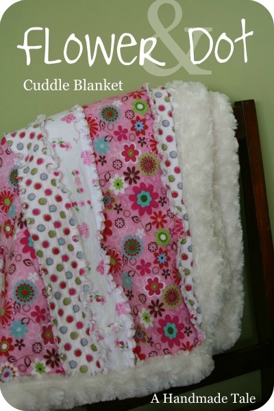 A Handmade Tale Flower And Dot Cuddle Blanket
