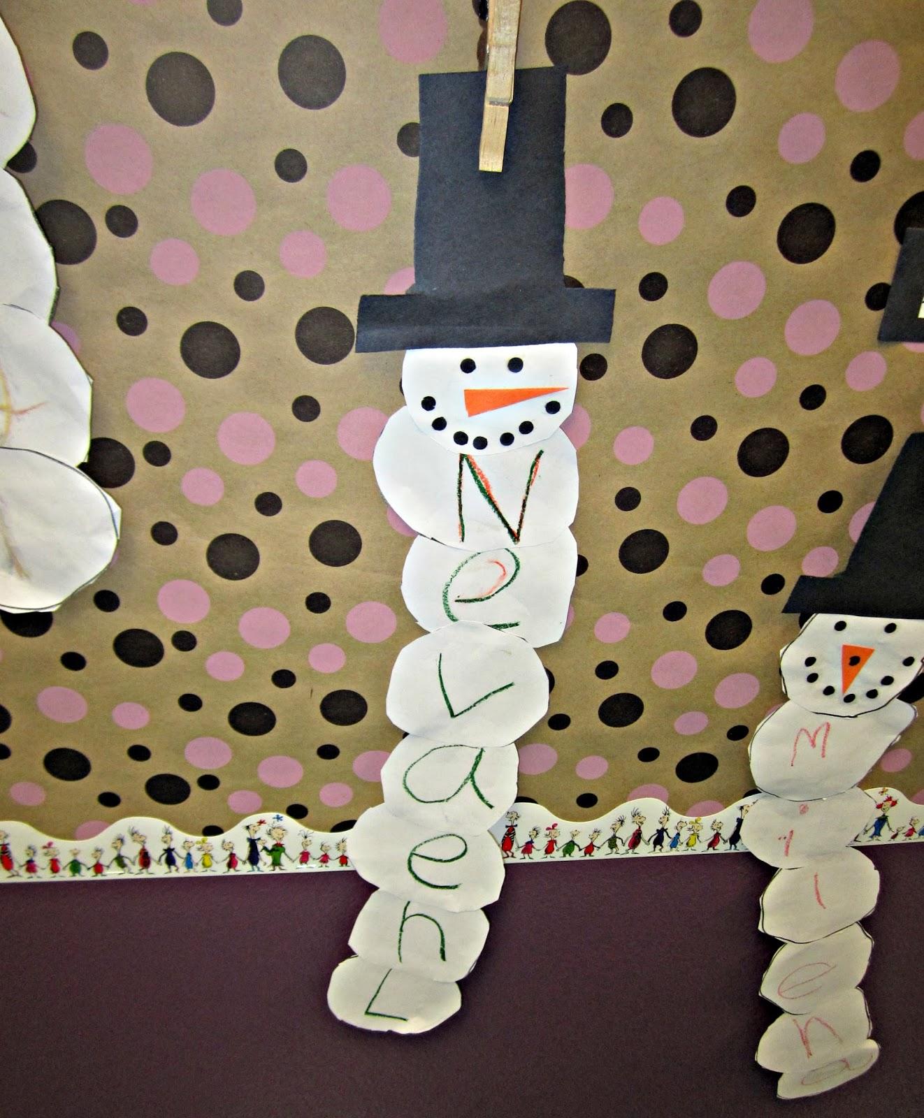 Snowman Bulletin Board Idea For The Classroom Crafty Morning