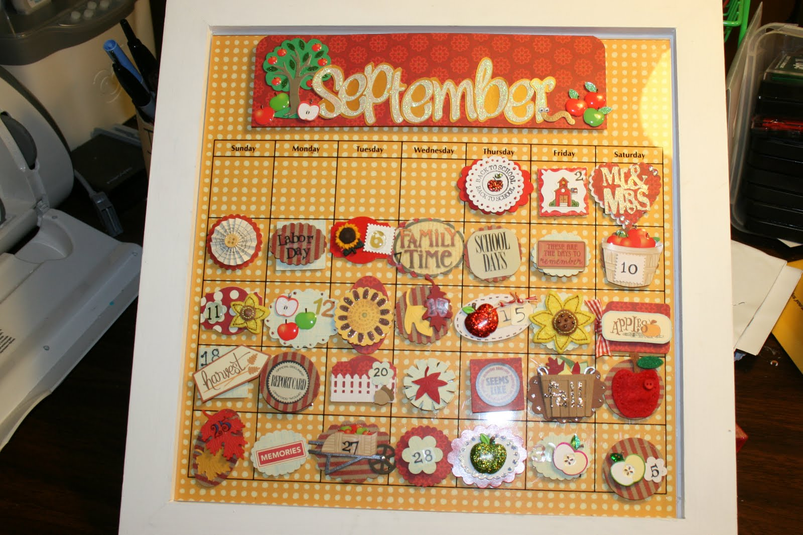 Priscillas September Calendar
