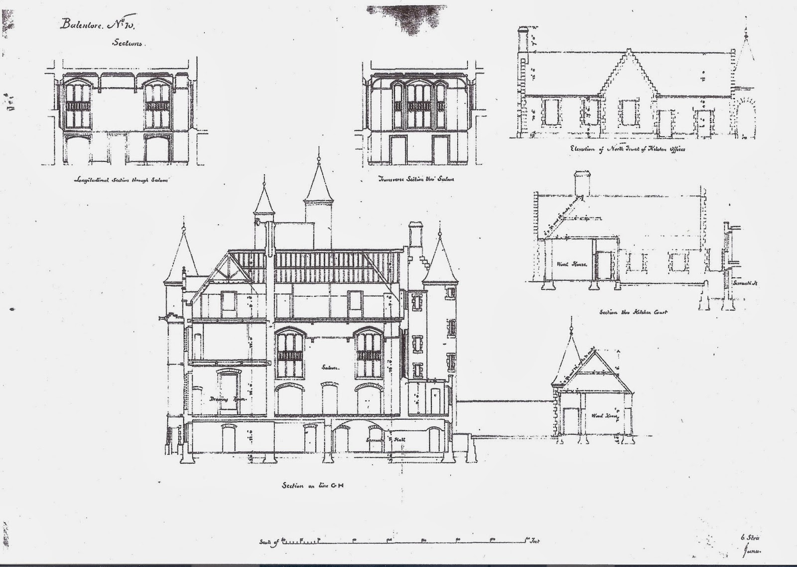 balintore castle restoration project november 2013 plan 10 sections
