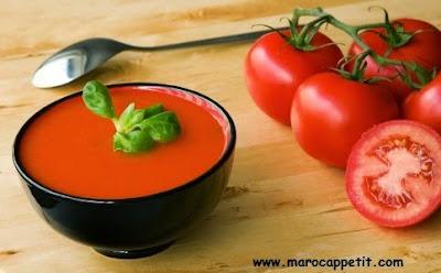 Recette facile et rapide de soupe de tomates fraîches | Quick and easy fresh tomatoes's soup recipe