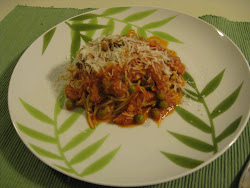 Tuna and Peas with Spaghetti