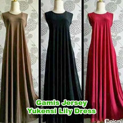 Gamis Jersey Umbrella Lily Yukensi | azzahidahcollections.com