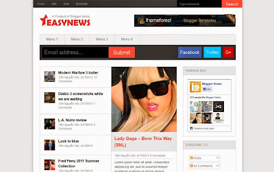 Easy News - Magazine Responsive SEO Blogger Template