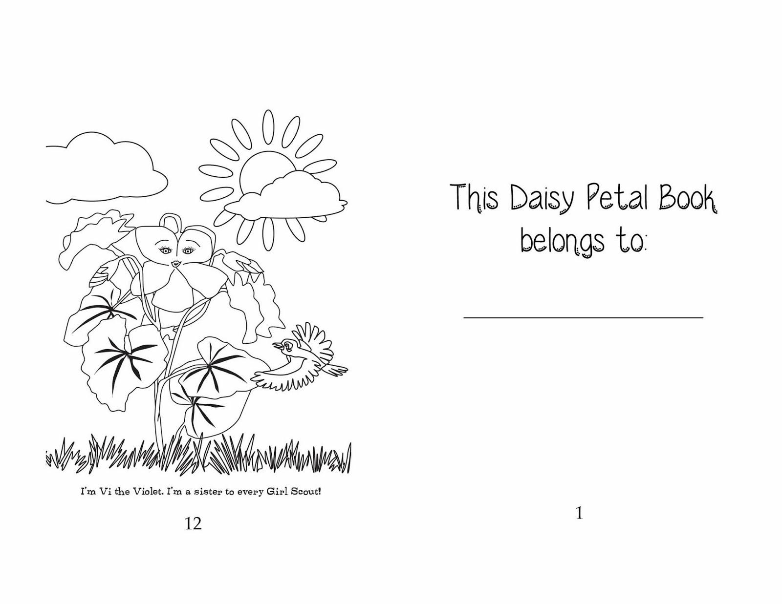 Daisy petals book for Daisy petal coloring page