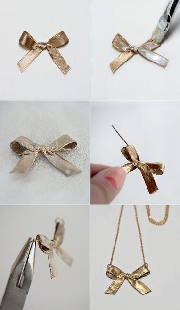 Collier de ruban arc DIY