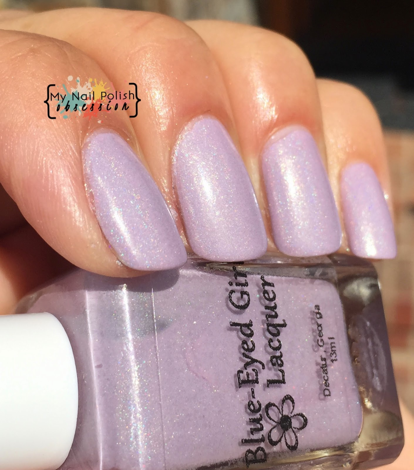 Addicted to Holos Indie Box Blue Eyed Girl Lacquer Cotton Candy Clouds