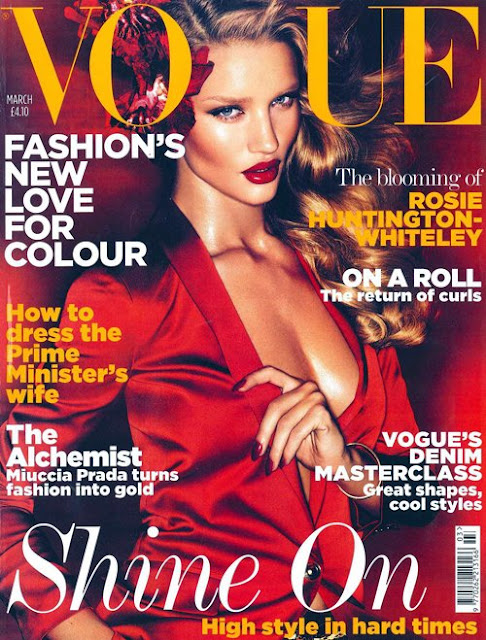 rosie huntington whiteley vogue. In the interview, Rosie
