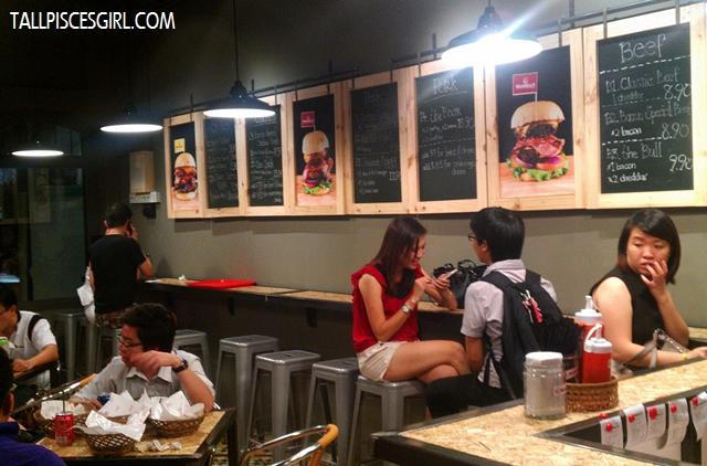 Marshall's Burger interior