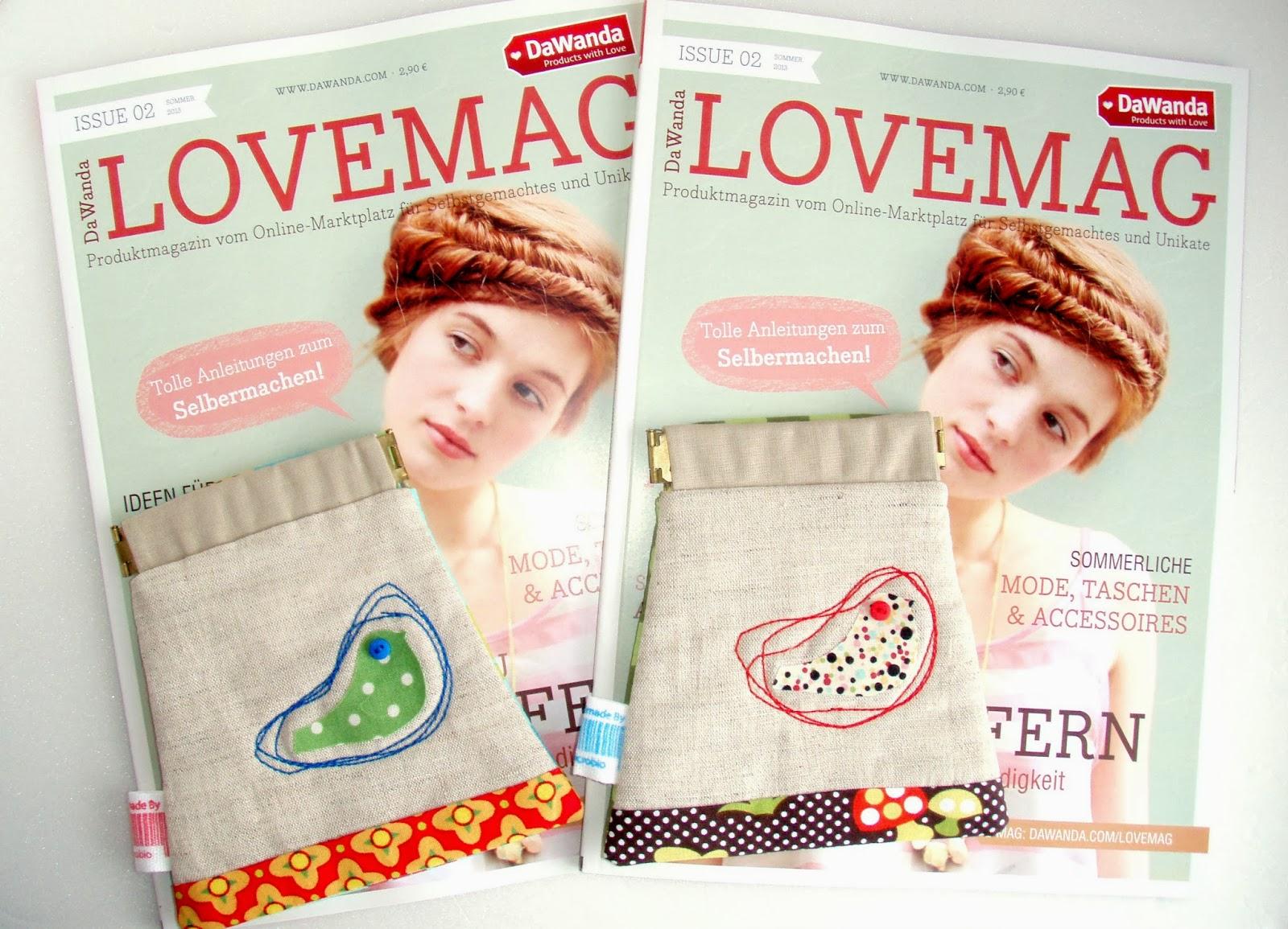 Sorteio DaWanda LOVEMAG 02 + carteira by microbio/GIVEAWAY DaWanda LOVEMAG 02 + microbio pouch
