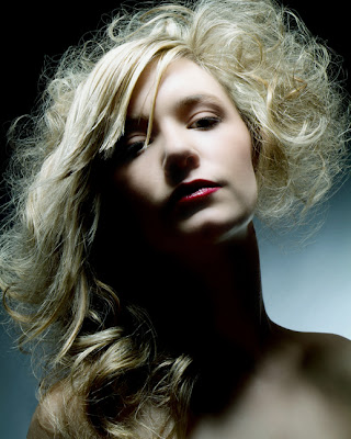 model, beautiful, hair highlights, blonde