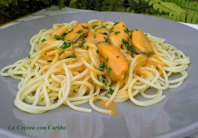 Espaguetis Con Mejillones Al Aroma De Jerez