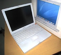 jual apple ibook g4 second