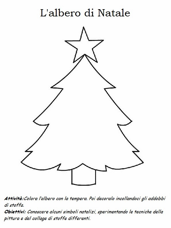 Il bosco dell 39 infanzia scheda l 39 albero di natale for Schede didattiche natale scuola infanzia