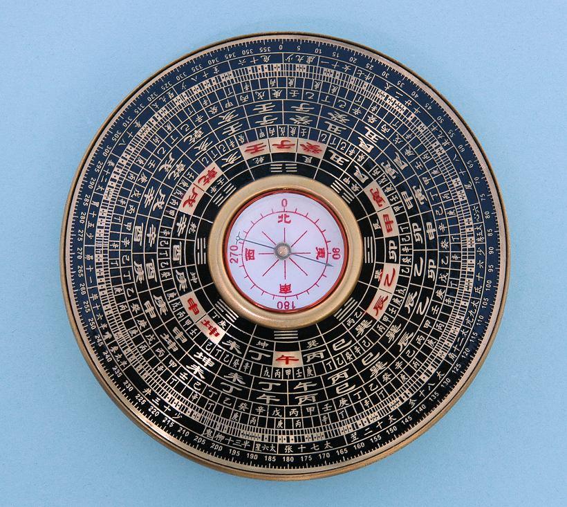 Contoh kompas yang digunakan dalam amalan Feng Shui masyarakat cina