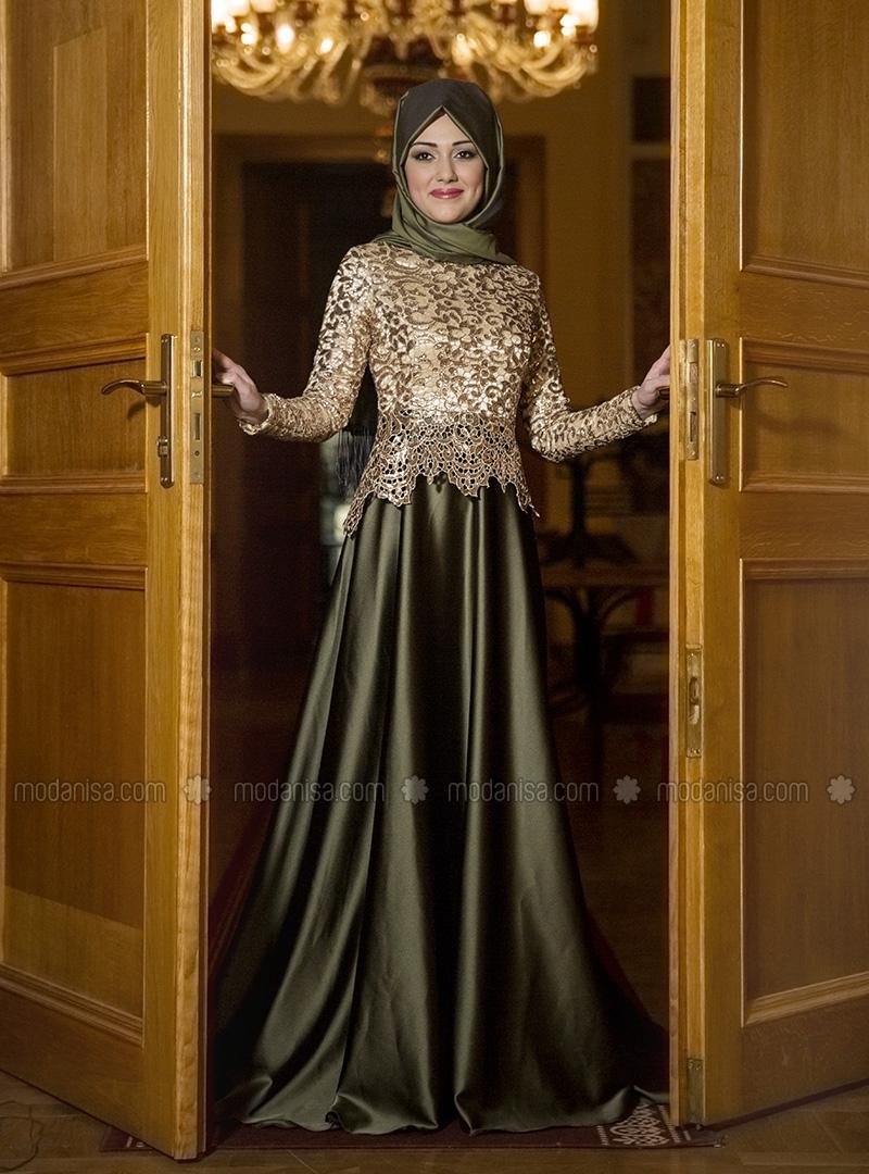 10 contoh model baju muslim untuk pesta terbaru 2018 Baju gamis pesta muslim