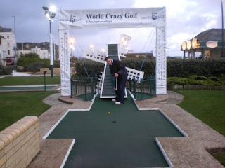 The Windmill hole at Hastings Crazy Golf course