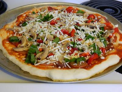 homemade thin crust pizza