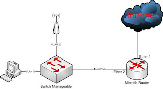 topology vlan trunk for small network