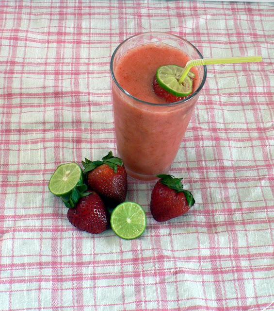 Strawberry Limeade Slushie recipe