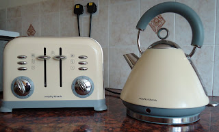 Morphy Richards Kettle and Toaster from the Accent range in cream