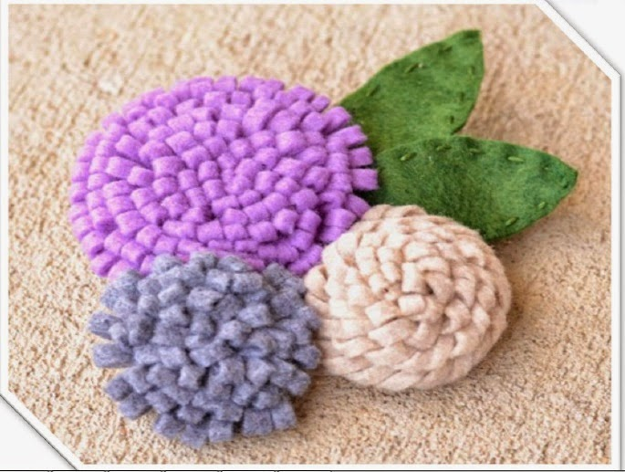 felt, felt flower tutorial, felt flowers, felt fabric, felt crafts, wool felt, felt ornaments