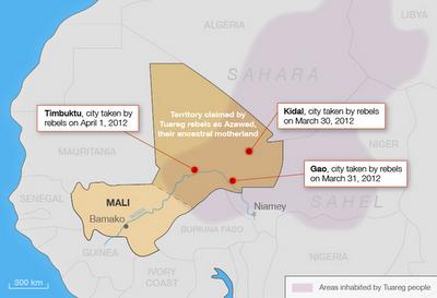 la proxima guerra mapa mali tuareg africa bamako intervencion militar onu francia